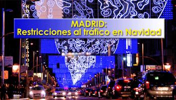 Tráfico Madrid Navidad diciembre
